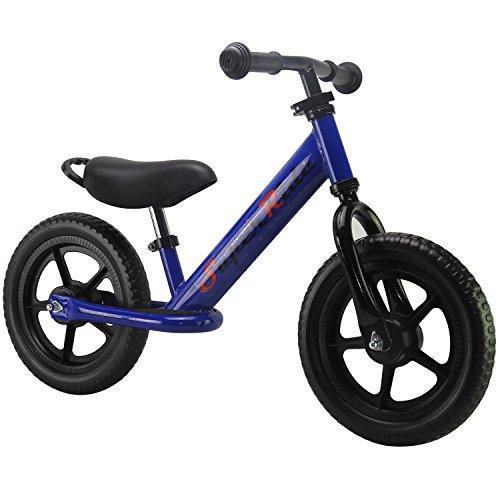 "Super Ride - 12"" Sport Balance Bike, No Pedal Push Bicycle,"