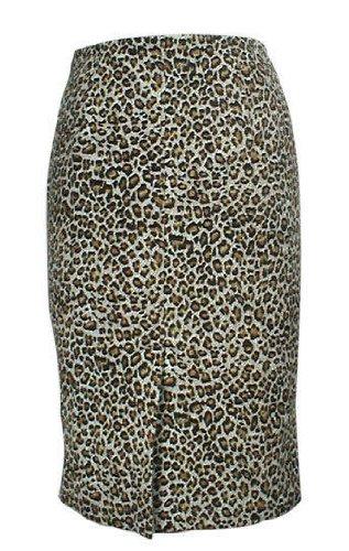 Une jupe crayon Burlesque imprimé Léopard Rock Chic Rock'n'roll Sexy Vintage Pin up - Tailles 36-58