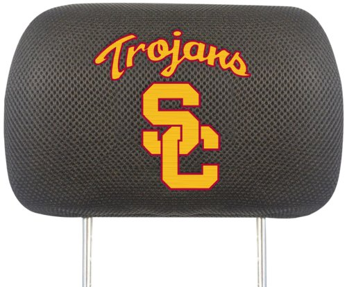 FANMATS NCAA Univ of Southern California Trojans Polyester Head Rest Cover by Fanmats
