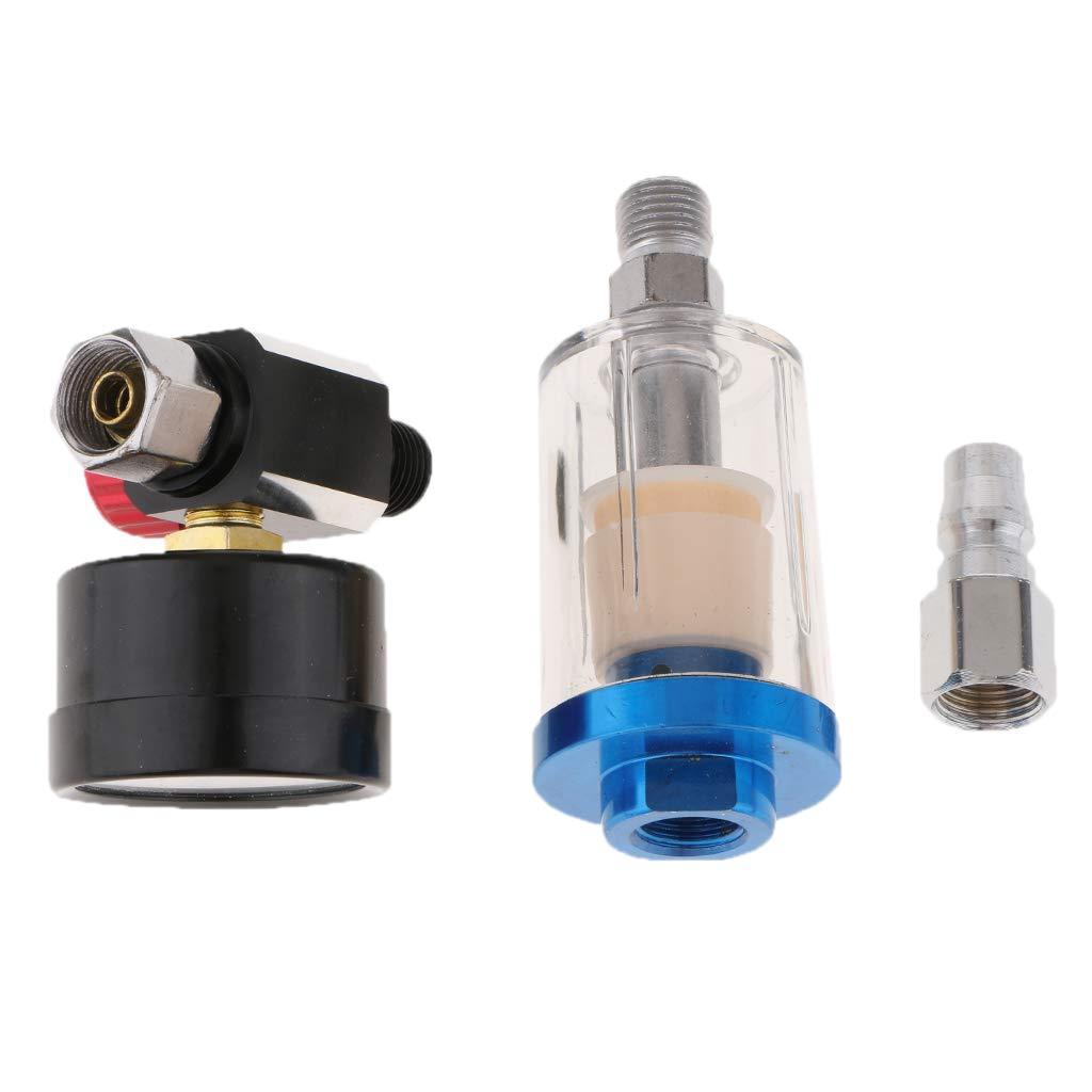 Spray Paint Airbrush Air Regulator Gauge Air Oil Water Separator Filter