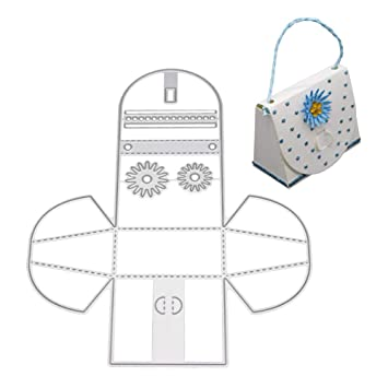 zmigrapddn Troqueles,Bolso Tote Design Troqueles de corte plantilla moldes para hacer álbumes de recortes Álbum Tarjeta de papel Artesanía, ...
