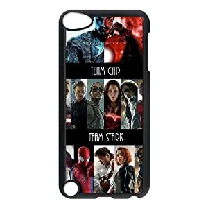 Custom made Case,Captain America 3 Civil War Cell Phone Case for iPod touch 5,Black Case With Screen Protector (Tempered Glass) Free S-7262554