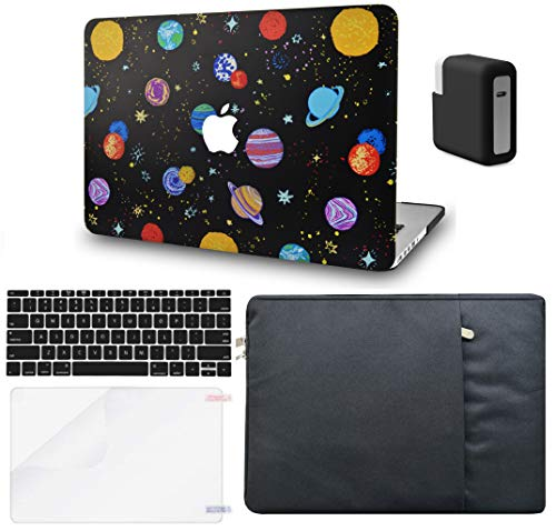 LuvCase 5in1 LaptopCase for Mac Air 13 Inch (Touch ID)(2018-2020) A1932 Retina DisplayHardShell Cover,Sleeve,Charger Case,Keyboard Cover,Screen Protector (Cartoon Space)