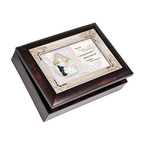 Cottage Garden Precious Moments Wedding Italian Inspired Music Box Plays Amazing Grace