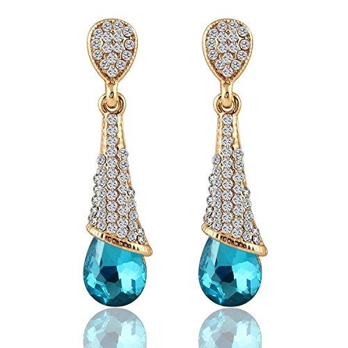 Glitz Fashion plaqué or romantique géométrique Must Have longue Charme Parti Porter Drop & Boucles d'Oreille Pendantes pour Femmes