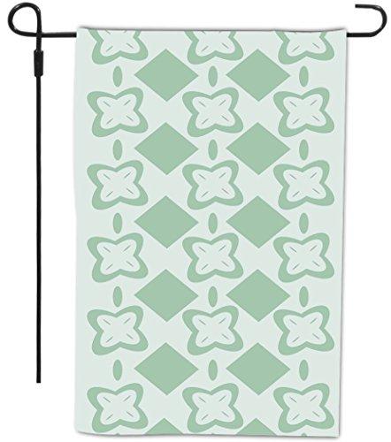 Rikki Knight Mint Green Flower Square Design Decorative H...