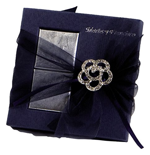 Mopec AB121–Strass Flower Brooch in Box 2Chocolates, Pack of 40 - Strass Chocolate
