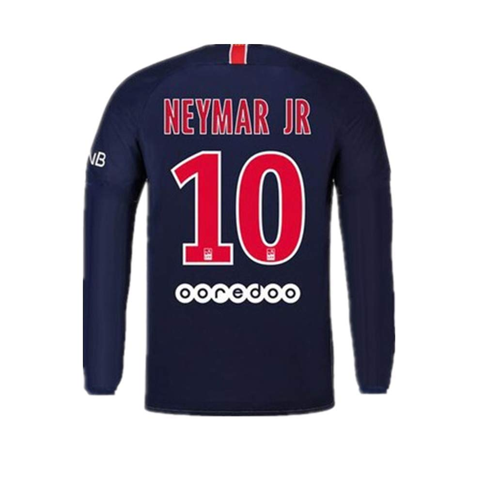 new product 35c08 d5912 #10 Neymar Jr Paris Saint-Germain (PSG) Soccer Jersey Long Sleeve 2018-2019  Season Blue