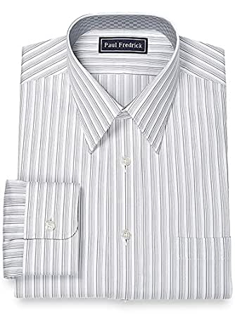 Paul fredrick men 39 s 100 cotton straight collar dress Straight collar dress shirt