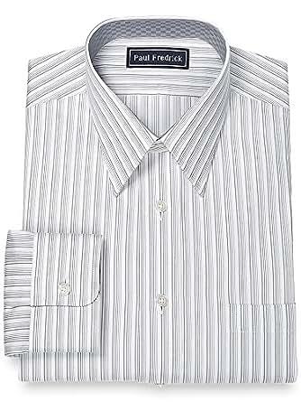Paul fredrick men 39 s 100 cotton straight collar dress Straight collar dress shirt