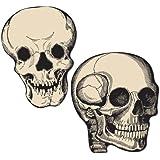 Beistle 5-Inch Skull Cutouts for Halloween, Mini