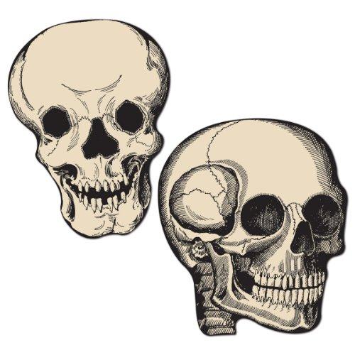 Beistle 5 Inch Skull Cutouts Halloween