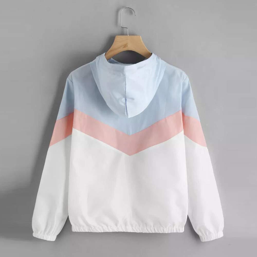 Winter Hooded Coat,Teen Girls Fashion Patchwork Thin Jacket Zipper Long Sleeve Cardigan Clearance