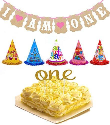 tkonline-1st-birthday-photo-prop-kit-one-birthday-cake-topperi-am-one-banner-for-baby-birthday5pcs-k