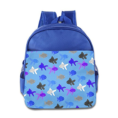 HYF Kids Watercolor Goldfish Toddler Backpack Preschool Lunch Boxes Carry ()