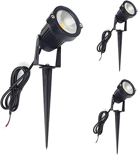 ALEDECO Outdoor Low Voltage Led Landscape Lights 12V 5W Waterproof Garden Pathway Tree Spotlight Classic-3pack