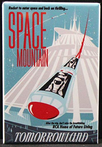 (Space Mountain Refrigerator Magnet.)