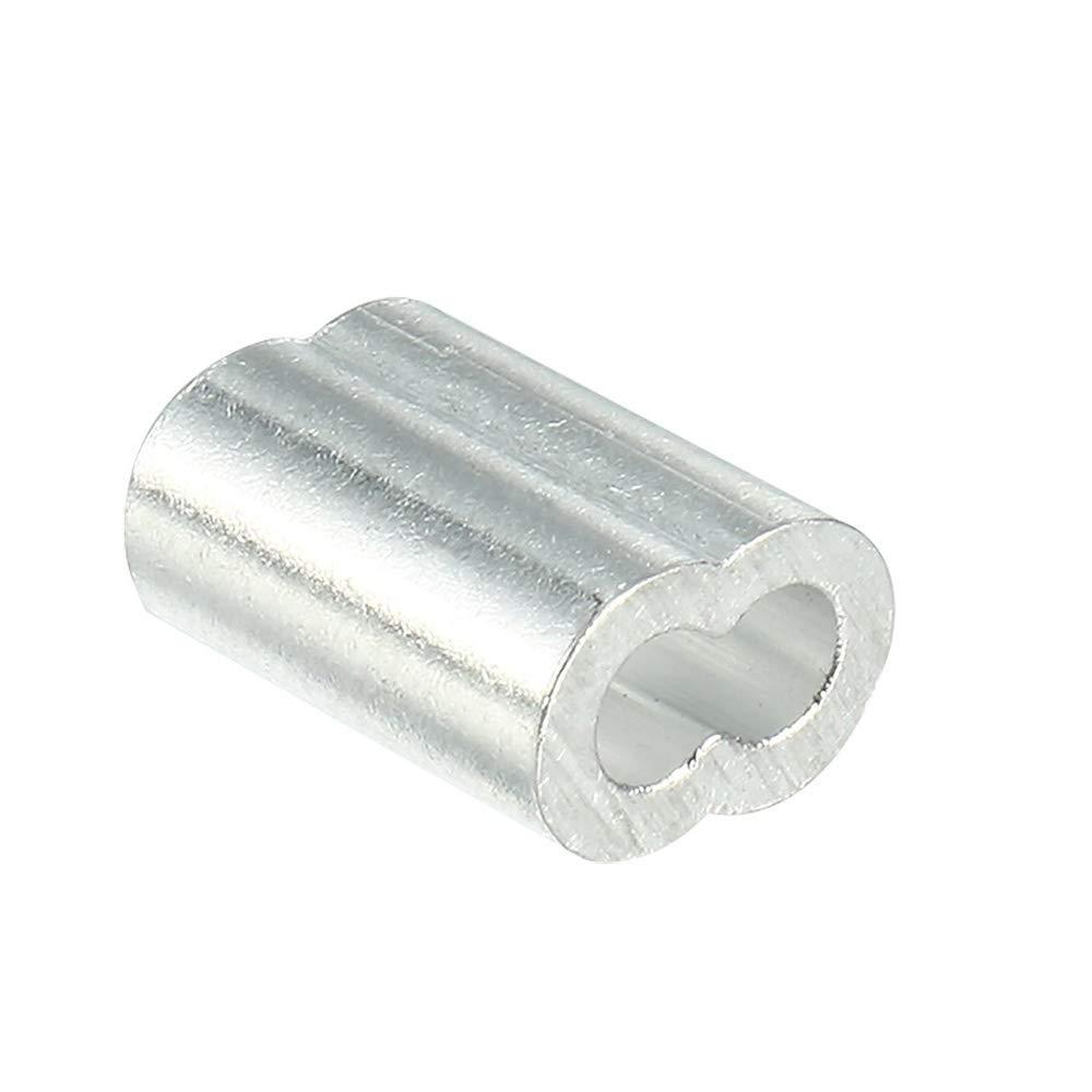 Kitchen-dream Aluminium-Crimpschlaufe f/ür 2mm Drahtseil und Kabel 50