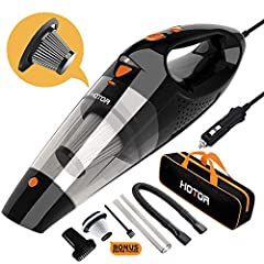 HOTOR Corded Car Cleaner High Power for Quick Car Cleaning, DC 12V Cleaner for Car Use Only - Orange