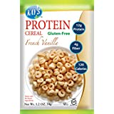 Kay's Naturals Protein Cereal, French Vanilla, Gluten-Free, Low Carbs, Low Fat, All Natural Flavorings, 1.2 Ounce (Pack of 6)