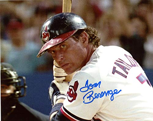 Tom Berenger Cleveland Indians Autographed Signed 8x10 Photo from Major League - At the Plate - Certified Authentic
