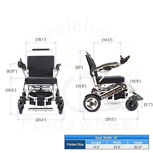 2017 Model Foldawheel Pw 1000xl Power Chair Weighs Just