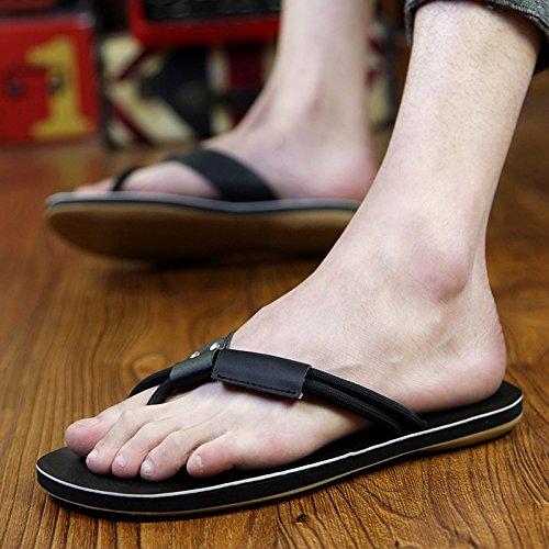 Sandali e Flip Sandali uomo uomo Feet Clip Pin Infradito Pantofole Estate da Sandali black antiscivolo AIHUWAI da Sandali Sandali pantofole casual Uomo nxffa4