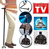 Trusty Cane LED Folding Walking Triple Head Pivot Base Adjustable As Seen On TV