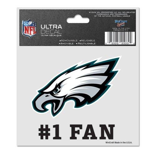 (WinCraft NFL Philadelphia Eagles 95604010 Multi-Use Decal, 3