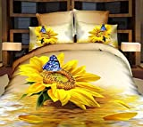 TheFit Bedding, j Flower & Sea 6 Family Set, Chid Bed Duvet Luxury Romantic Bedroom 4 Pcs Cotton , Set King & Queen (King)