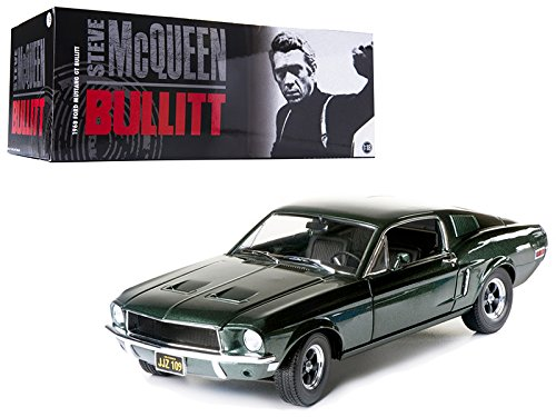 Greenlight 12822 Steve McQueen Bullitt 1968 Ford Mustang GT Hard Top 1/18 Scale  ()