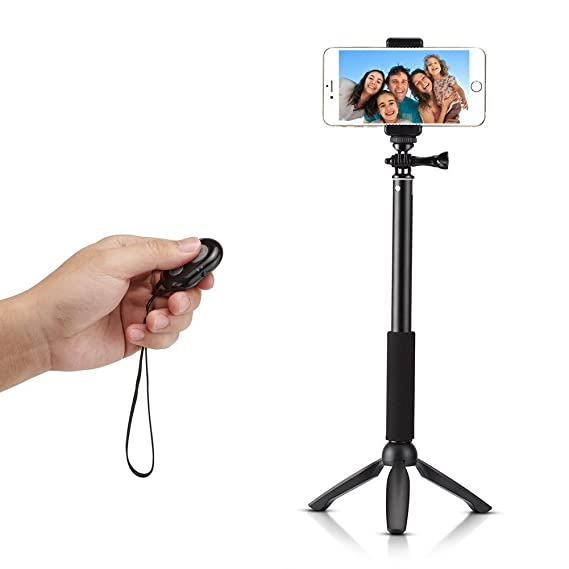 wholesale dealer d4472 363a8 Accmor Rhythm Pro Bluetooth Selfie Stick Monopod with Tripod Stand for  iPhone 6 Plus 6 5S Android Samsung Galaxy S6 S5 Note 4 3 and GoPro Hero  Camera