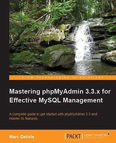 Download Mastering phpMyAdmin 3.3.x for Effective MySQL Management PDF