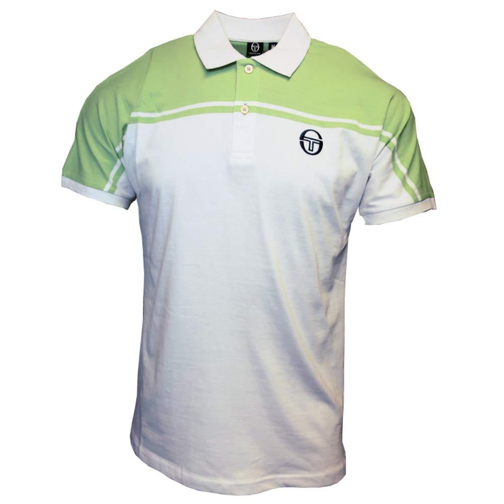 Sergio Tacchini New Young Line Polo Shirt White/Pale Green 4XL ...