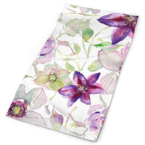 BestgoodsLTD Violet Watercolor Flower Pattern Headband Bandana£¬Outdoor Multifunctional Headwear,Magic Scarf for Men Women 19.7x9.85inch(50x25cm)