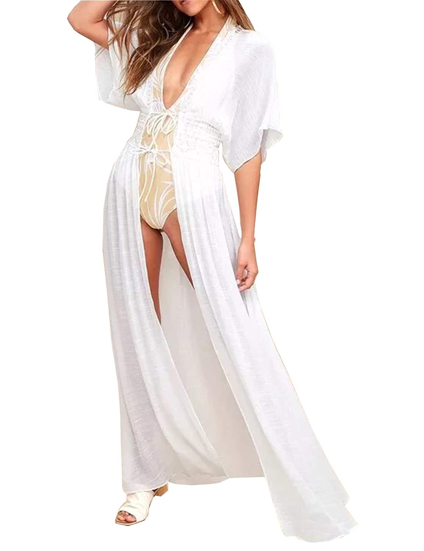 12fdaba6c6 Women\'s Long Lace Chiffon Swimsuit Bikini Cover Up Beach Dress Woman Sexy  Bating Suit Cover Product Type: Sportswear Material: Polyester Style: Bikini