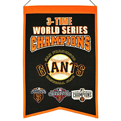 Winning Streak MLB San Francisco Giants 3 Time WS Champions Banner, One Size