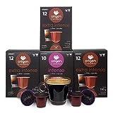 Nespresso Compatible Capsules - 80 Pods Pack - Expresso pods for Nespresso full compatible with Original Line Nespresso Machine, 60 Capsules of Strong Espresso 20 Capsules Medium