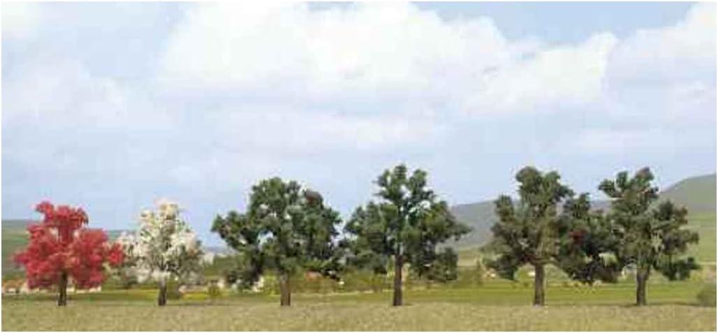 Busch 6813 Red Tree 2// HO Scenery Scale Model Scenery
