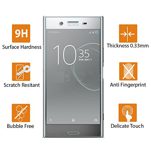 2-Pack]Sony Xperia XZ Premium Tempered Glass Screen