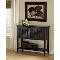 Wood Storage Sideboard Buffet With Lower Shelf, Durable Construction, Extra Display Surface, Transitional Design, Practical, Ideal For Dining Room, Kitchen, Home Furniture, Dark Cherry + Expert Guide