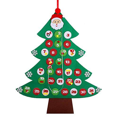 Kids DIY Felt Christmas Tree Decorations for Home Year Merry Christmas Home Decoration Accessories,D