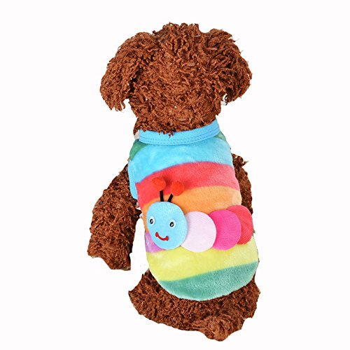 MD New Cute Baby Pet Clothes Teacup Dogs Clothing Puppy Winter Warm Thick Sweaters (XXXS, Red Stripe)