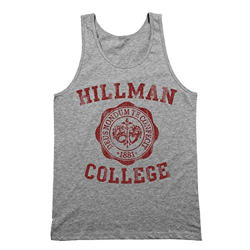 Funny Threads Outlet Hillman College University Seal School Costume Uniform Mens Tank Top X-Large (Uniform Outlet Store)