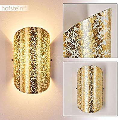 Design Wandleuchte LED Wand Strahler Flur Lampe Wohn Zimmer Leuchte goldfarbig