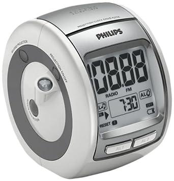 Philips AJ3700 Radio réveil avec tuner FM, projection de l heure au plafond, b51b2682a8f0