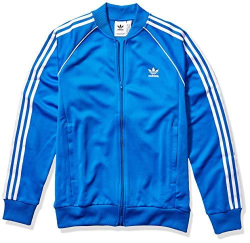 adidas Originals Men's Superstar Track Top Jacket, Blue Bird, Medium