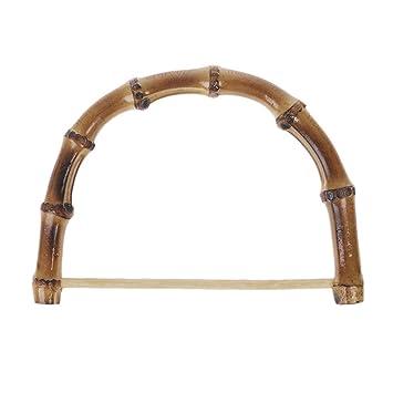 DIY Bambus Holz Taschengriff Handtasche Tasche Griff Geldtasche