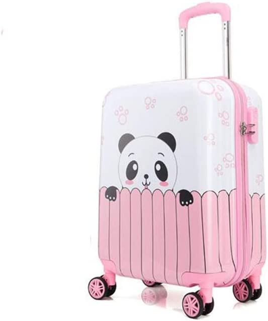 Universal Wheel Luggage Multi-Color Trolley case Cartoon Travel Trolley case Wulianshangmao Trolley case Size : 18, Style : I 18//19//20