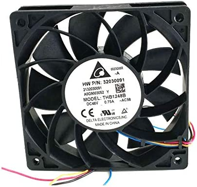 Portable Cooling Fan for Delta THB1248B DC48V 0.75A 12025 12CM PWM Cooling Fan